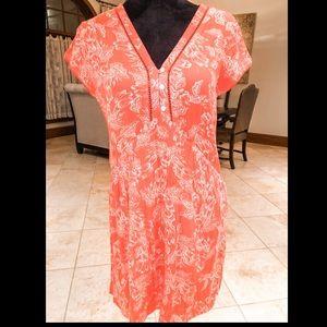 Cute Orange flowery dress